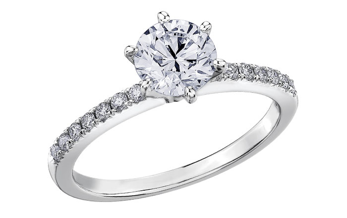 Maple Leaf Diamonds 18ct White Gold Diamond Solitaire Engagement Ring