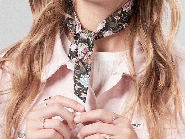 Olivia Burton Signature Silk Floral Scarf
