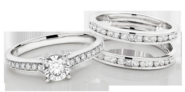 Platinum Diamond Solitaire & Silhouette Ring