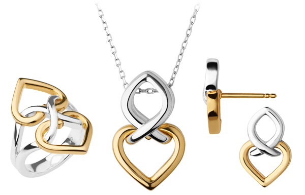 Links of London Infinite Love Silver & 18ct Gold Vermeil Jewellery