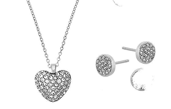 Michael Kors Cubic Zirconia Pendant and Earrings Set