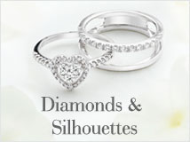 Diamond-and Silhouette Rings