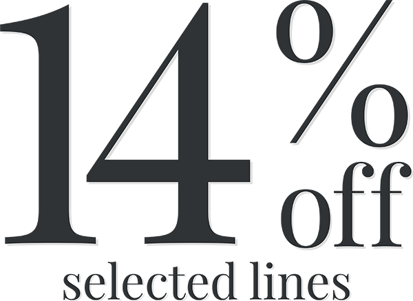 14% Off Selected Lines