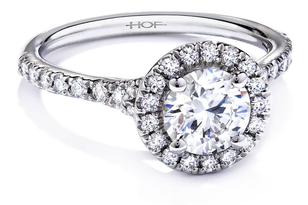 Hearts On Fire Transcend Platinum Diamond Ring