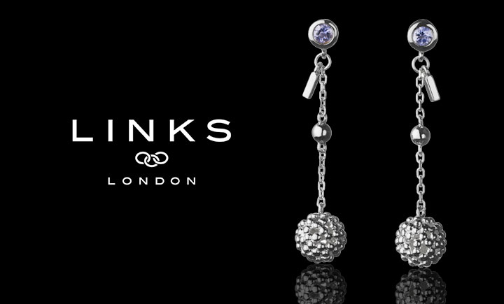 Links of London Effervescence Stilletto Bubble Silver Earrings