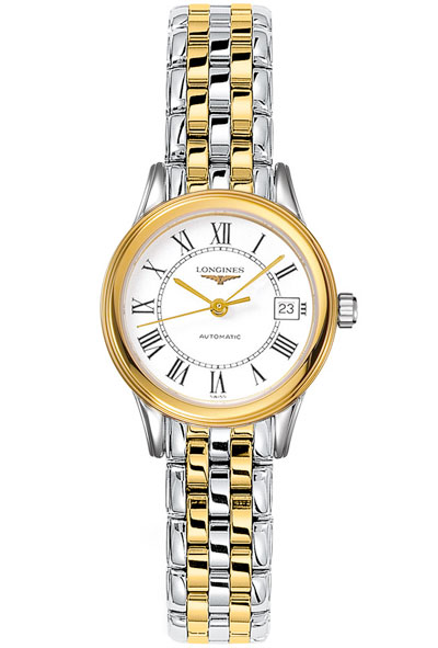 Longines Flagship La Grande Classique Gold Plated and Stainless Steel Automatic Ladies Watch