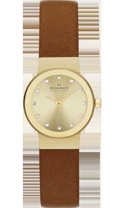 Skagen Klassic Freja Gold Plated Crystal Ladies Watch