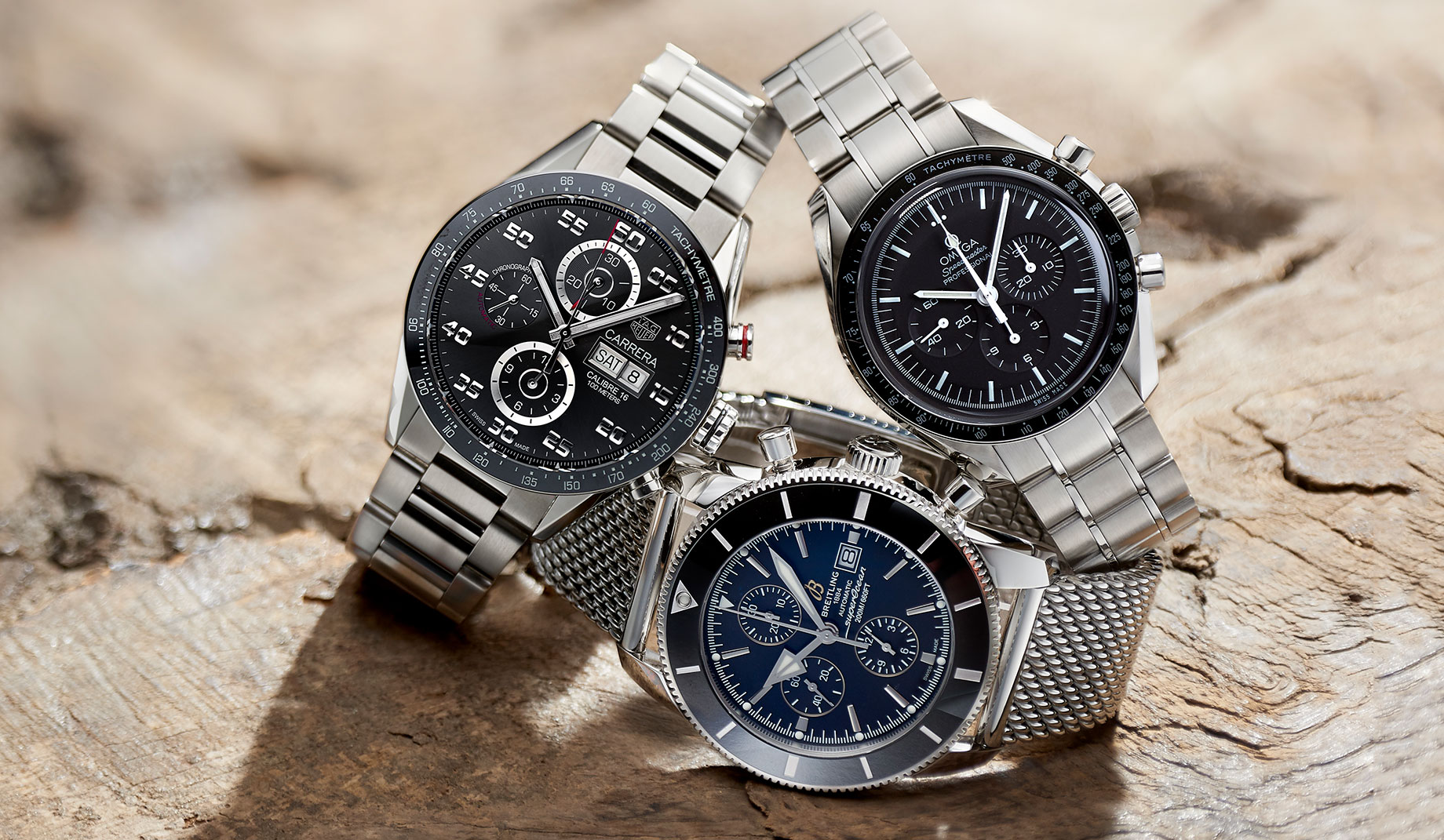 TAG Heuer | Omega | Breitling