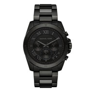 Michael Kors Brecken Black Ion Plated Chronograph Men's Watch