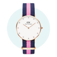 Daniel Wellington Rose Gold Plated Classy Winchester Crystal Ladies Watch
