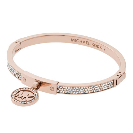 Michael Kors Rose Gold Tone Charm Bangle