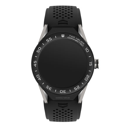 TAG Heuer Connected Modular 45 Black Rubber and Titanium Smartwatch