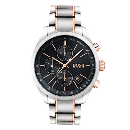 Hugo Boss Grand Prix Rose Gold Tone Chronograph Men's Watch