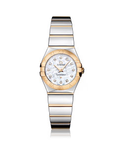 Omega Constellation Diamond Set 18ct Gold and Stainless Steel Ladies Watch