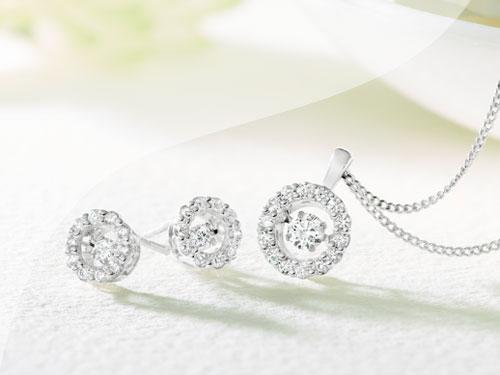 Beaverbrooks Diamond Pendant & Earring Sets
