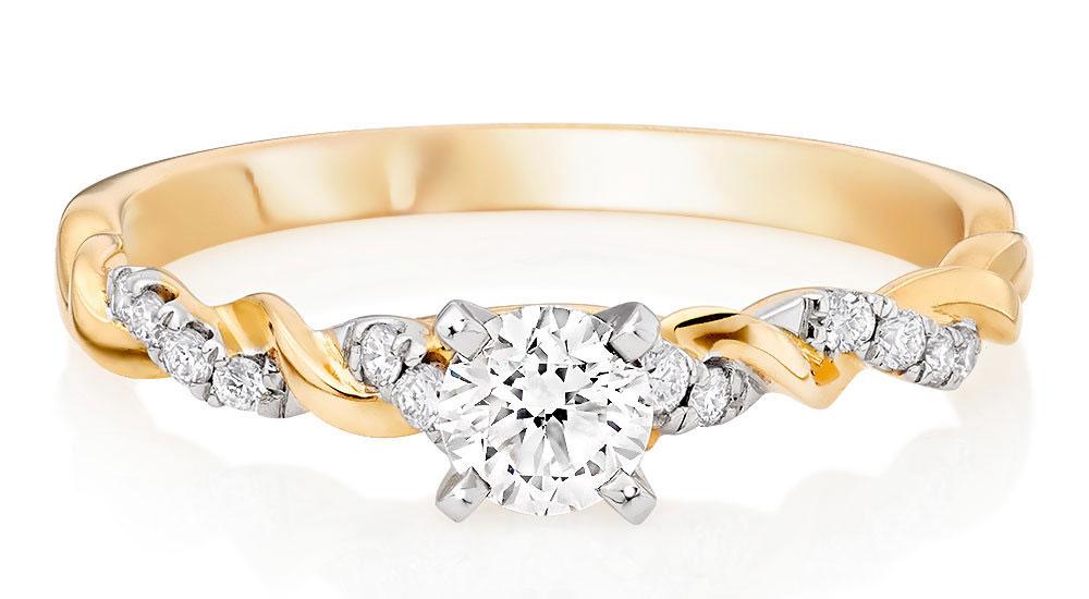 Entwine Diamond Rings