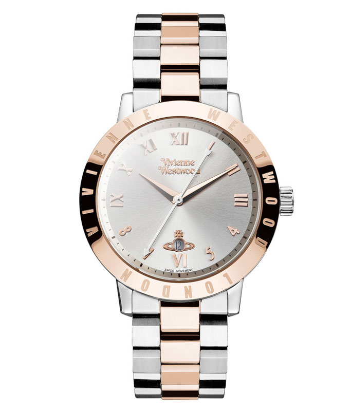 Vivienne Westwood Bloomsbury Rose Gold Tone and Stainless Steel Ladies Watch