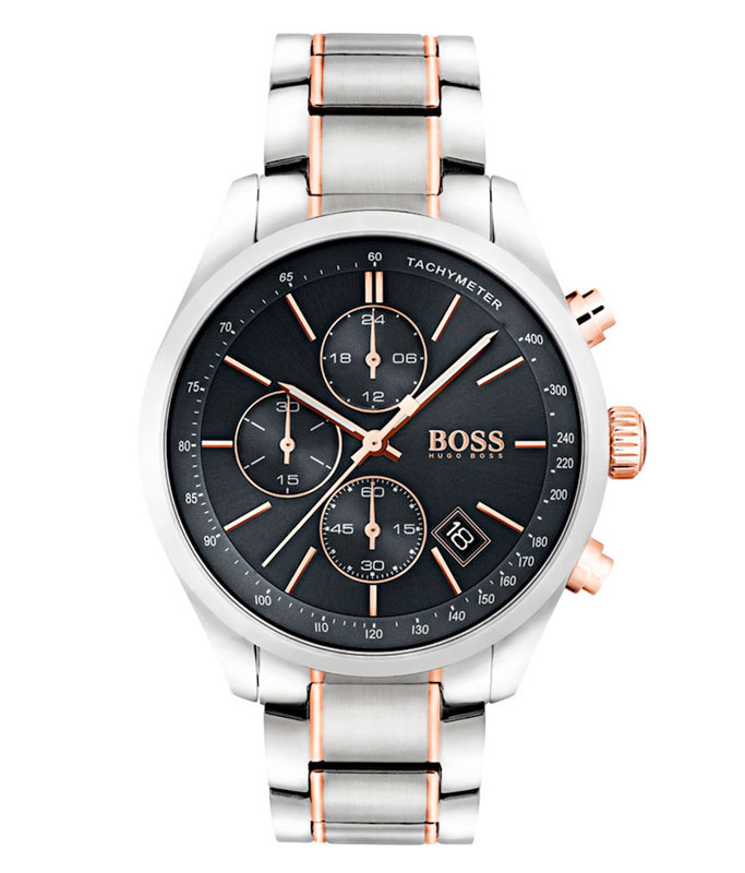Hugo Boss Grand Prix Rose Gold Tone Chronograph Men's Watch