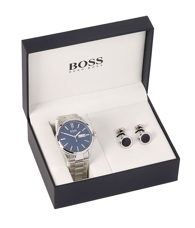 Hugo Boss James Watch and Cufflink Set
