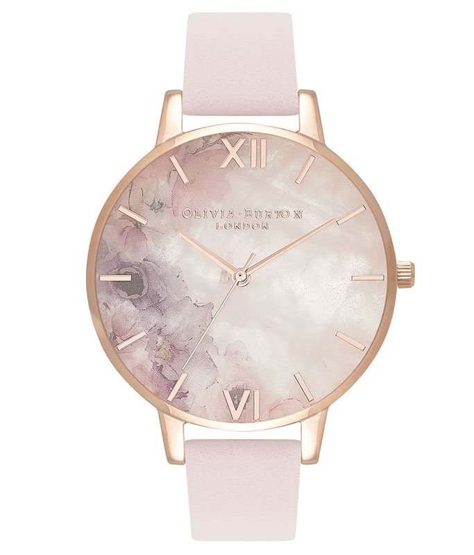 Olivia Burton Semi Precious Blossom Rose Gold Plated Ladies Watch