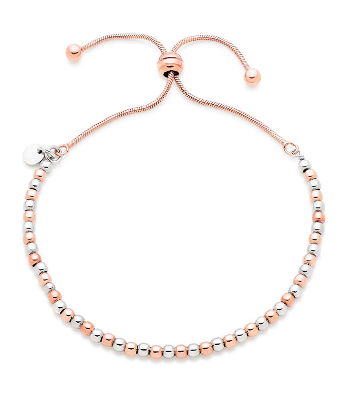 Silver Rose Gold Plated Bracelet
