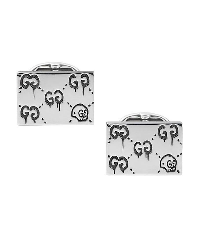 Gucci Ghost Silver Skull Cufflinks