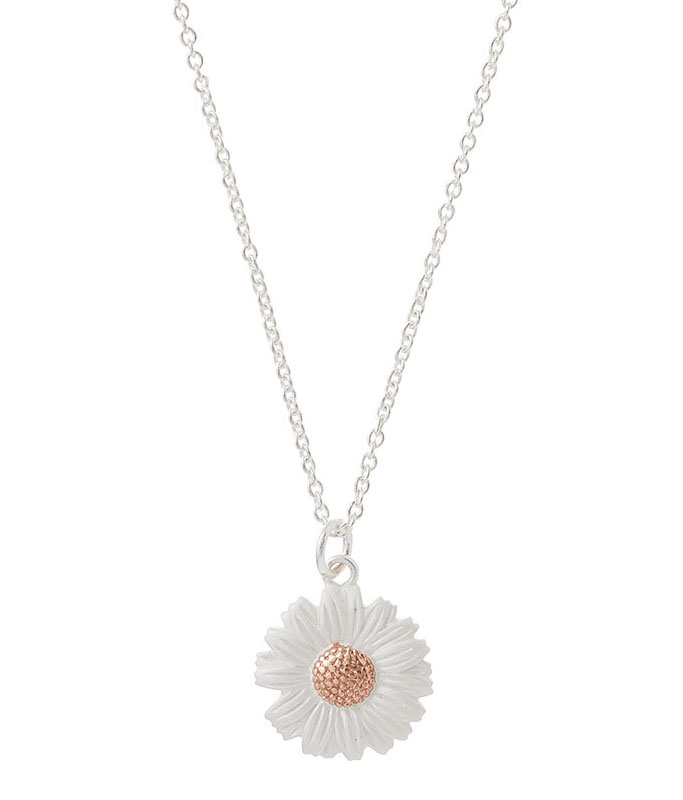 Olivia Burton 18ct Rose Gold Plated and Silver 3D Daisy Pendant