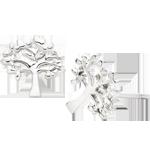 Silver Tree Stud Earrings