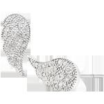 Silver Cubic Zirconia Angel Wing Earrings