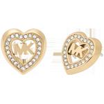 Michael Kors Gold Tone Heart Stud Earrings