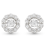 Dance by Beaverbrooks 9ct White Gold Diamond Earrings