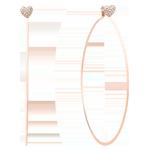 Michael Kors Rose Gold Tone Hoop Earrings