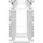 Silver Cubic Zirconia Chandelier Drop Earrings