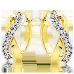 9ct Gold Crystal Hoop Earrings
