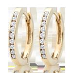 9ct Gold Diamond Hoop Earrings9ct Gold Diamond Hoop Earrings