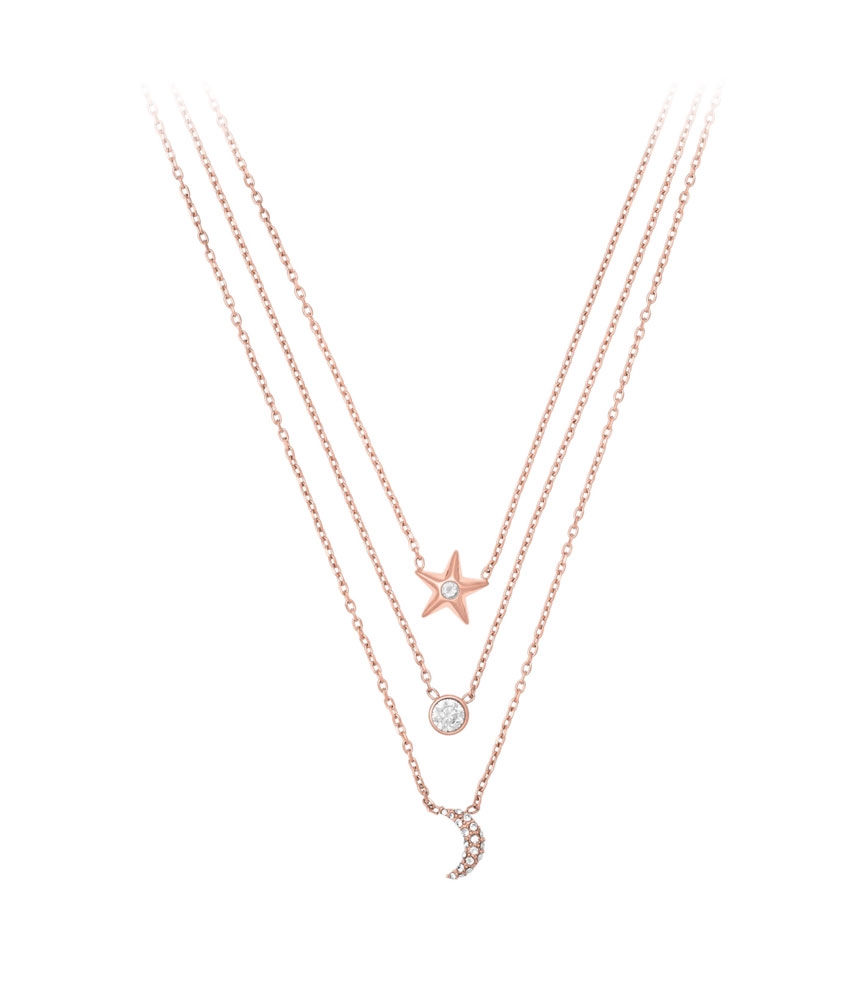Michael Kors Celestial Rose Gold Tone Necklace