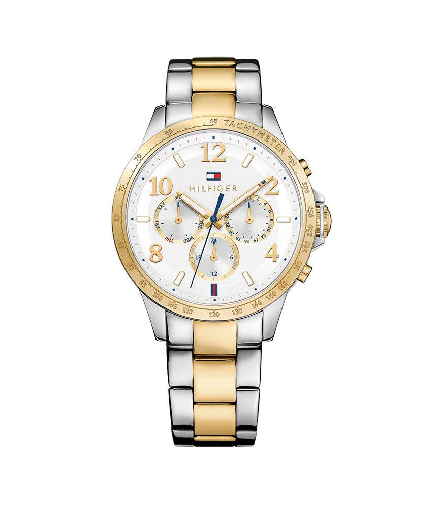 Tommy Hilfiger Dani Gold Tone and Stainless Steel Chronograph Ladies Watch
