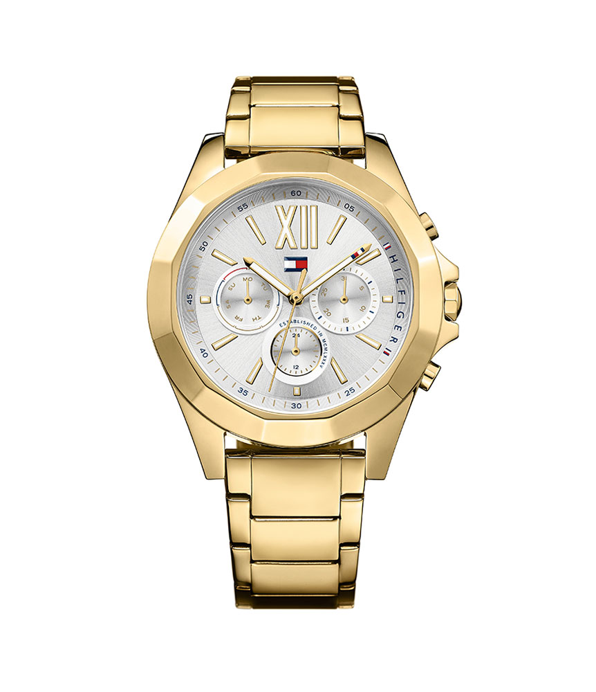 Tommy Hilfiger Chelsea Gold Tone Chronograph Ladies Watch