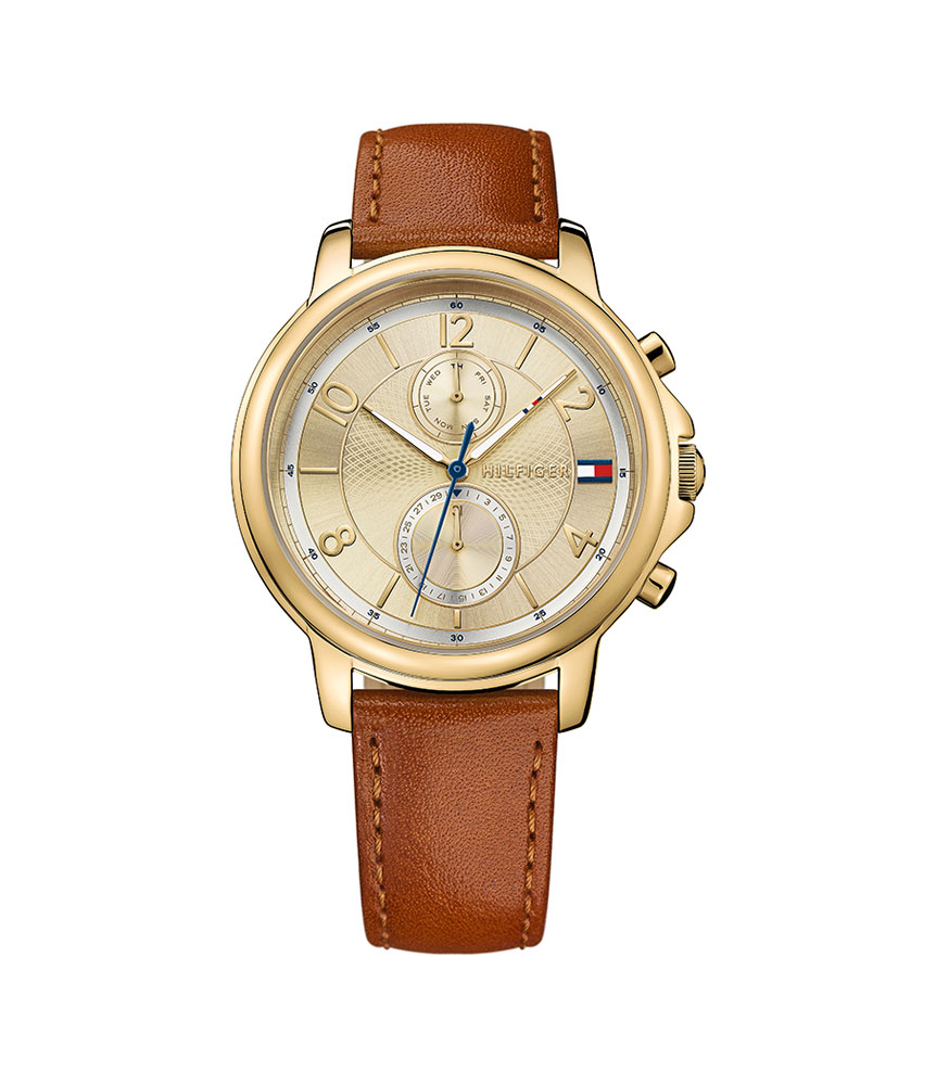 Tommy Hilfiger Claudia Gold Tone Chronograph Ladies Watch