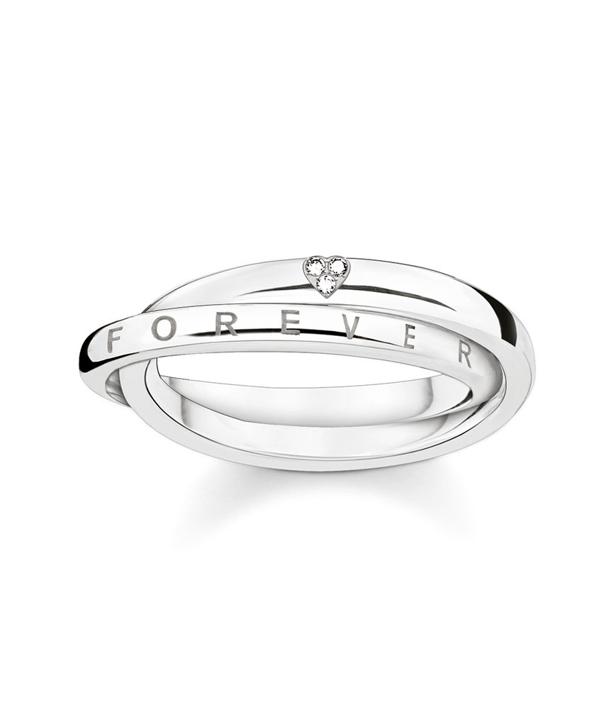 Thomas Sabo Glam & Soul Silver Diamond Ring