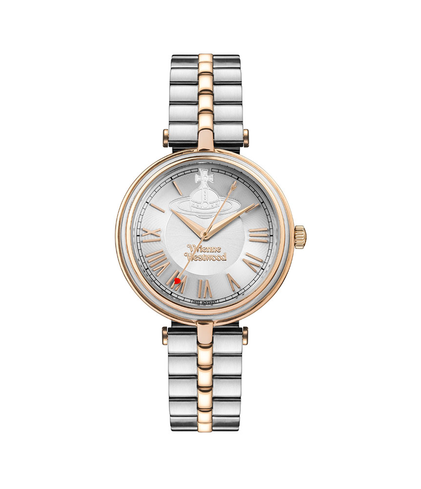 Vivienne Westwood Farringdon Gold Tone and Stainless Steel Ladies Watch