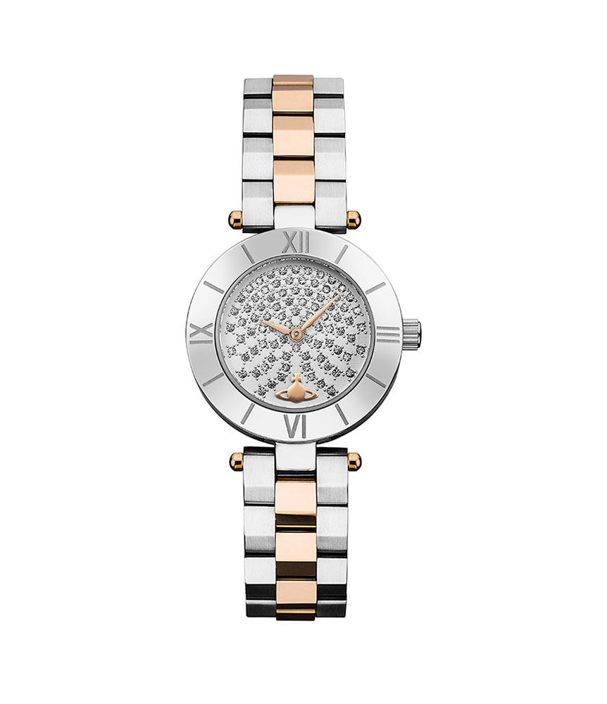 Vivienne Westwood Rose Gold Tone and Stainless Steel Ladies Watch