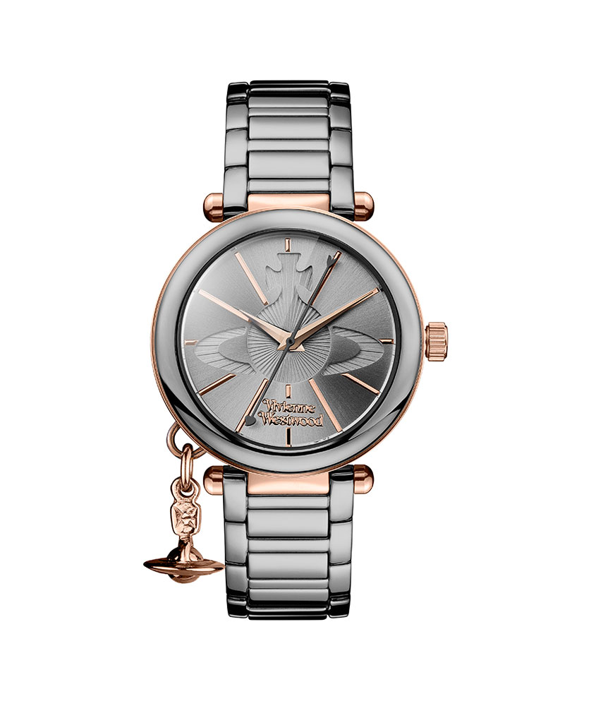 Vivienne Westwood Kensington Rose Gold Tone and Ceramic Ladies Watch