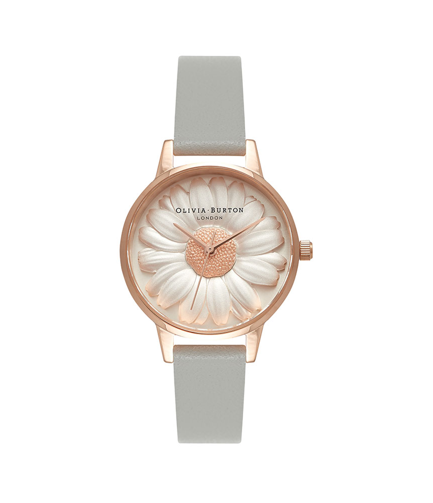 Olivia Burton 3D Daisy Rose Gold Plated Ladies Watch