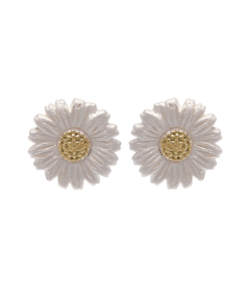 Olivia Burton Silver and 18ct Gold Plated Daisy Earrings