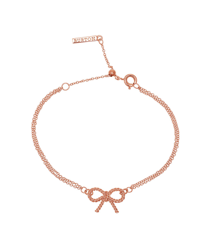 Olivia Burton 18ct Rose Gold Plated Bow Bracelet
