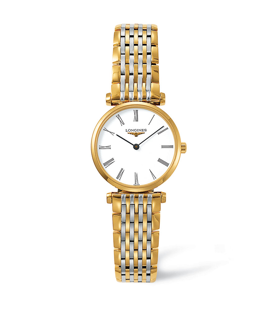 Longines La Grande Classique Gold Plated and Stainless Steel Ladies Watch