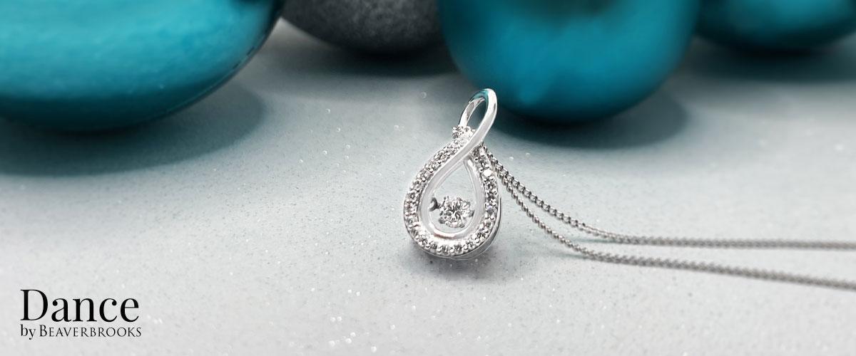 Dance 9ct White Gold Diamond Pendant