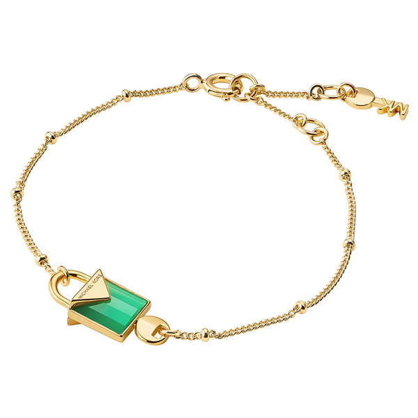 Michael Kors Kors Colour Gold Plated Silver Agate Bracelet