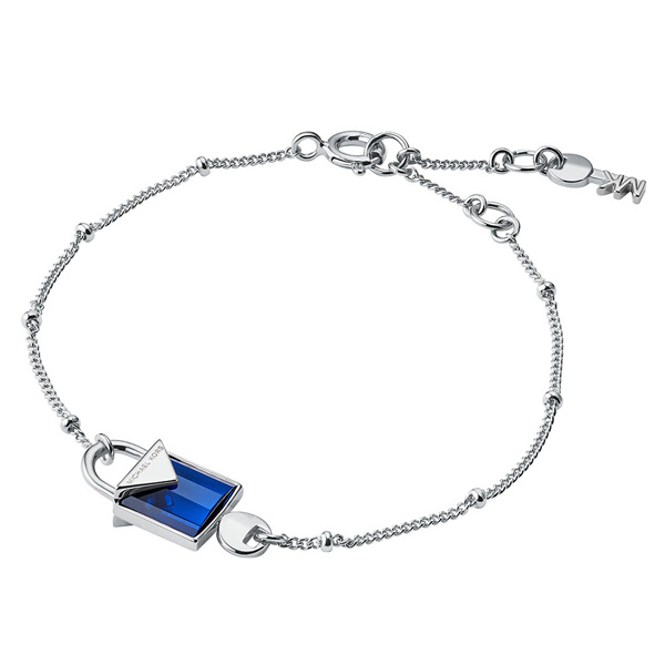 Michael Kors Kors Colour Silver Blue Quartz Bracelet